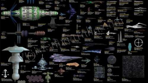 4 Posters Naves Ciencia ficción