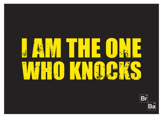Alfombra I am the one who knocks 70 x 50 cm. Breaking Bad