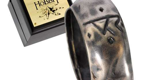 Anillo El Hobbit. Thorin Oakenshield. Plata de ley. Noble Collection