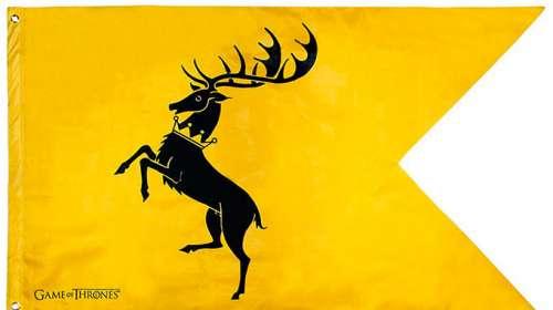 Bandera Casa Baratheon. Juego de Tronos