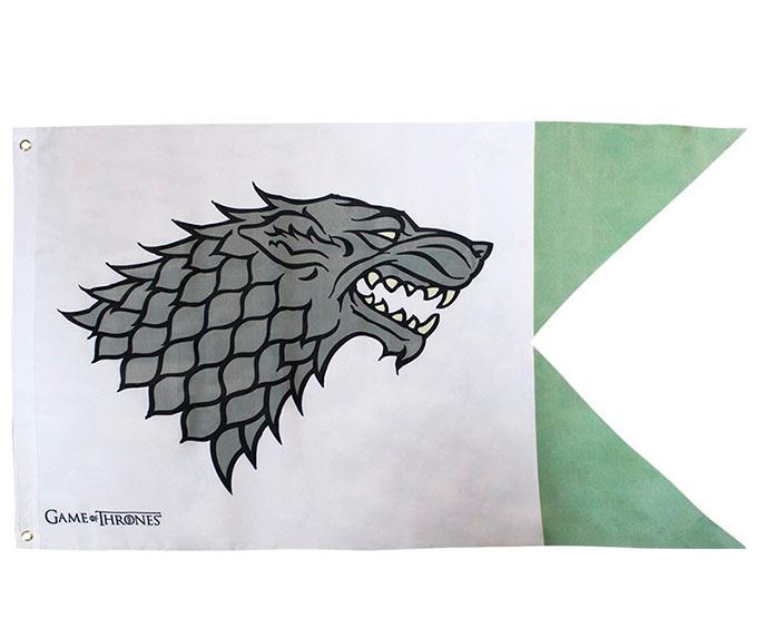 Bandera Casa Stark. Juego de Tronos. 120 x 70cm