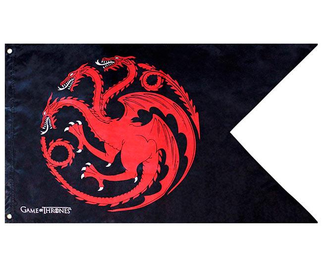 Bandera Casa Targaryen. Juego de Tronos. 120 x 70cm
