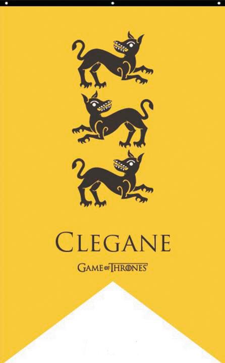 Bandera Estandarte Casa Clegane. Juego de Tronos 90 x 150 cm