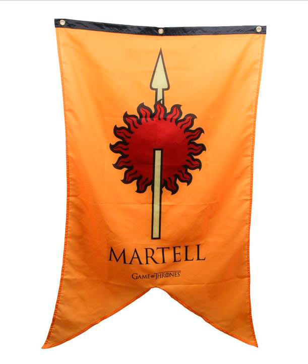 Bandera Estandarte Casa Martell. Juego de Tronos. 76 x 125cm