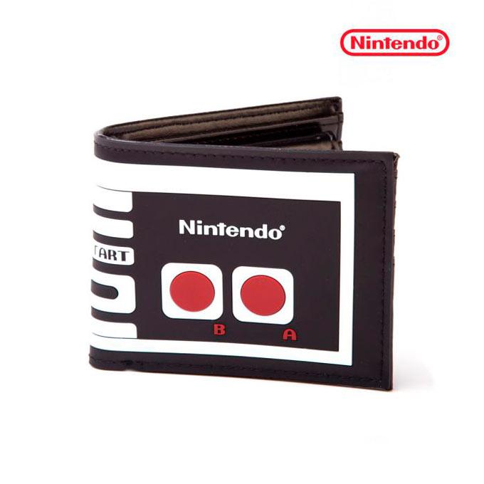 Billetera Mando Nintendo con portamonedas