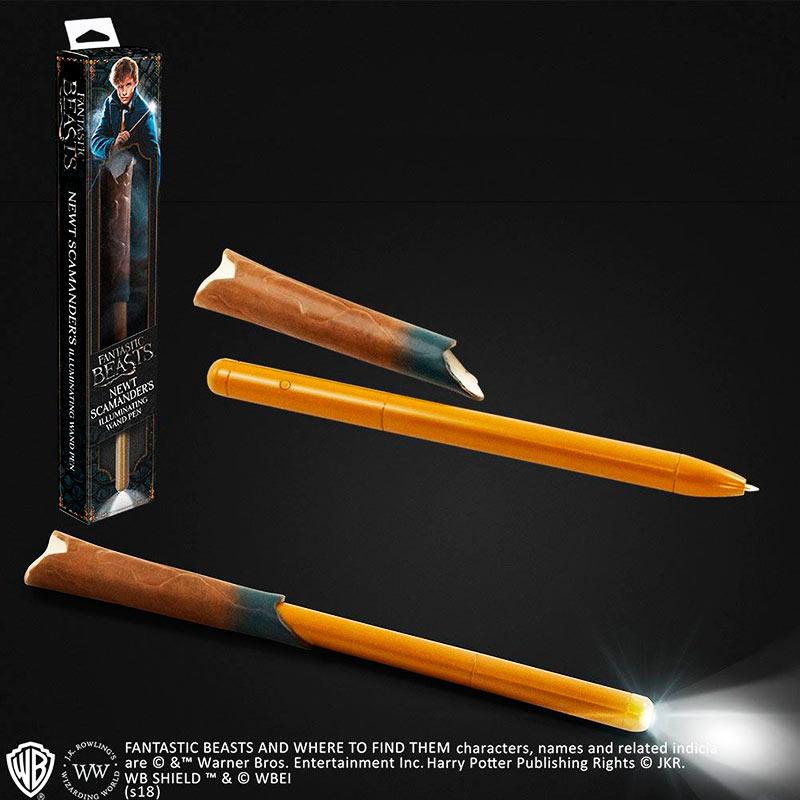 Bolígrafo Animales fantásticos y dónde encontrarlos LED Newt Scamander. Noble Collection