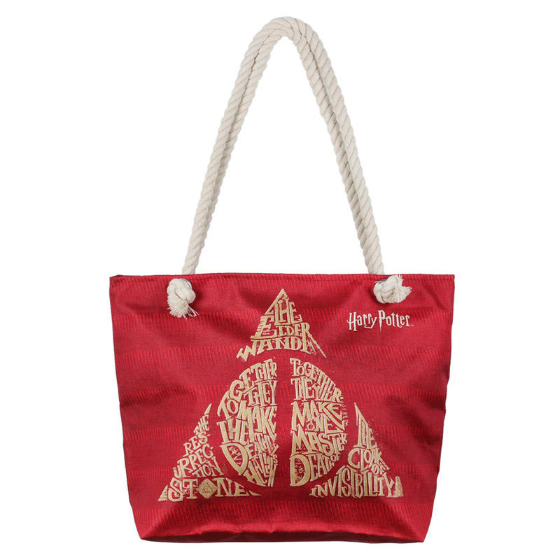 Bolsa de playa Deathly Hallows. Harry Potter