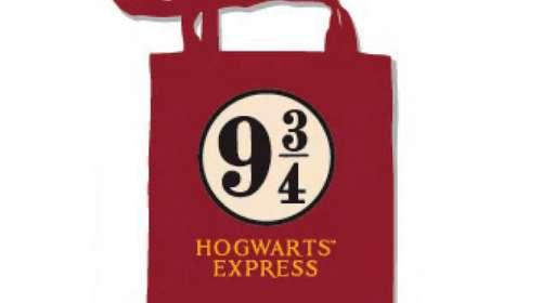 Bolsa de tela Plataforma 9 3/4 Hogwarts Express. Harry Potter.