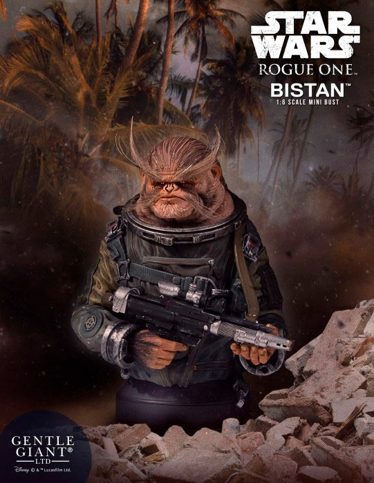 Busto Bistan 19 cm. Rogue One: A Star Wars Story. Escala 1:6. Gentle Giant