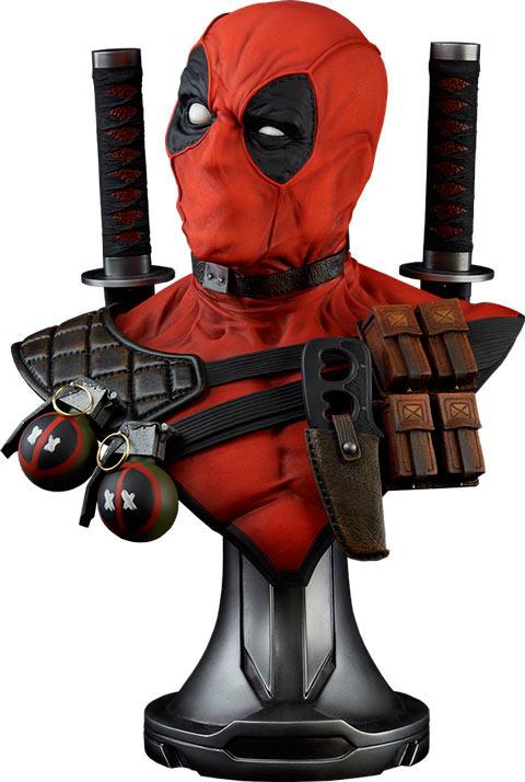 Busto Deadpool 71 cm. Escala 1:1. Tamaño real. Marvel Cómics. Sideshow Collectibles