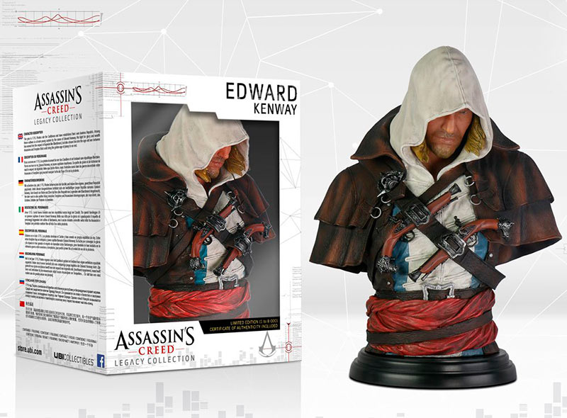 Busto Edward Kenway 19 cm. Assassin's Creed IV: Black Flag. UBI Collectibles