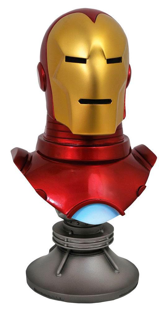 Busto Iron Man 25 cm. Legends in 3D. Escala 1:2. Marvel Cómics. Diamond Select
