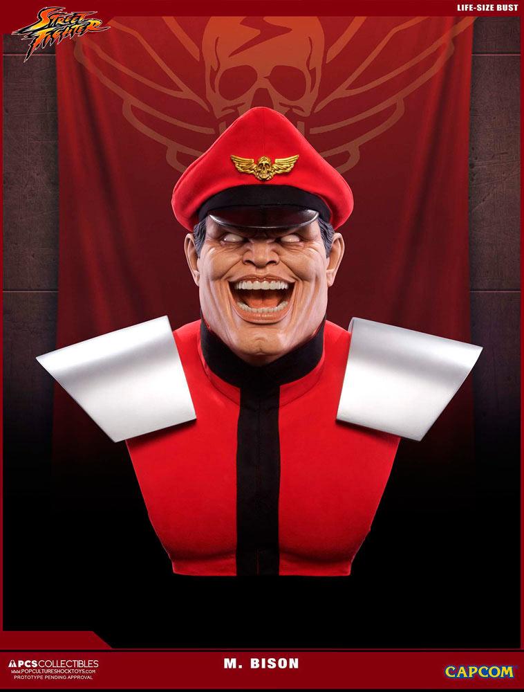 Busto M. Bison 69 cm. Street Fighter V. Con luz. Escala 1:1. Tamaño real. Pop Culture Shock