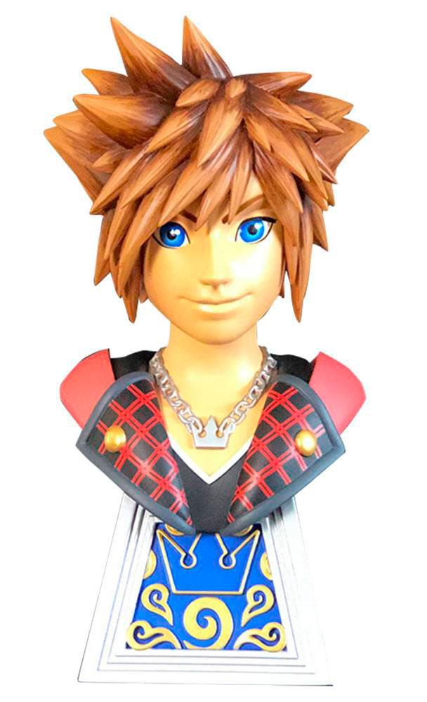 Busto Sora 25 cm. Kingdom Hearts 3. Legends in 3D. Escala 1:12. Edición Limitada. Diamond Select