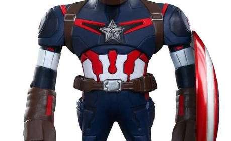 Cabezón Capitán América 14 cm. Los Vengadores: la era de Ultrón. Hot Toys
