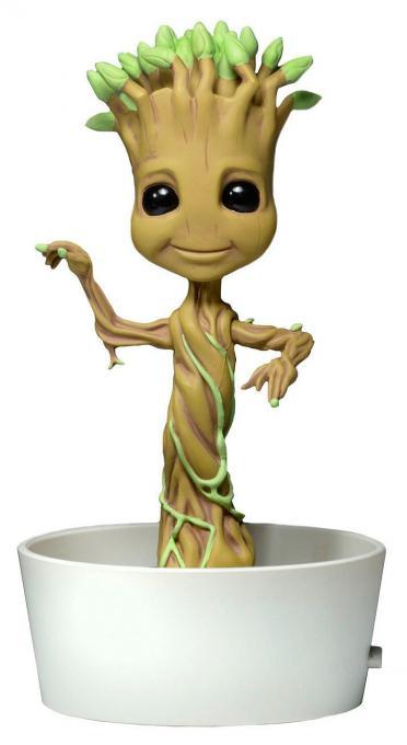Cabezón Dancing Groot 15 cm. Guardianes de la Galaxia. Con Movimiento. Línea Body Knockers. NECA