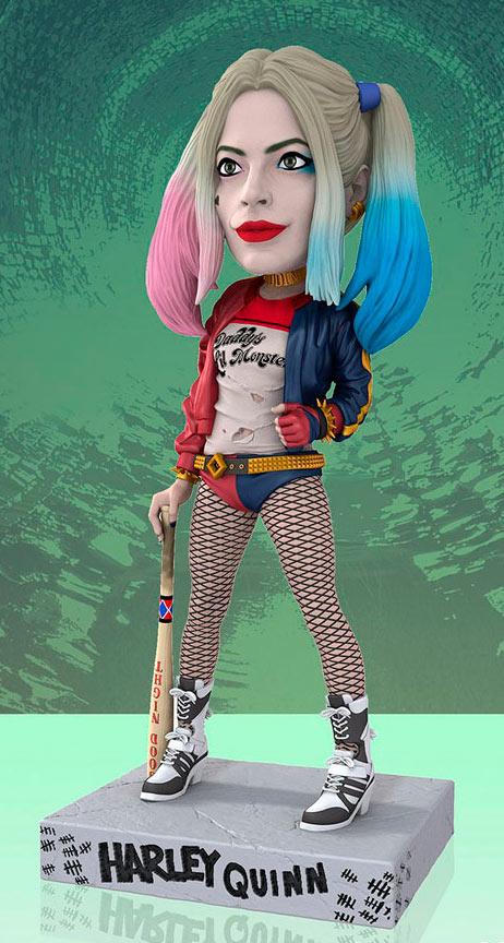 Cabezón Harley Quinn 20 cm. Escuadrón Suicida. Línea Head Knockers. DC Cómics. NECA