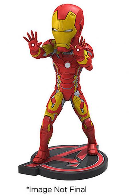 Cabezón Iron Man 18 cm. Los Vengadores: La era de Ultrón. Línea Head Knockers. NECA