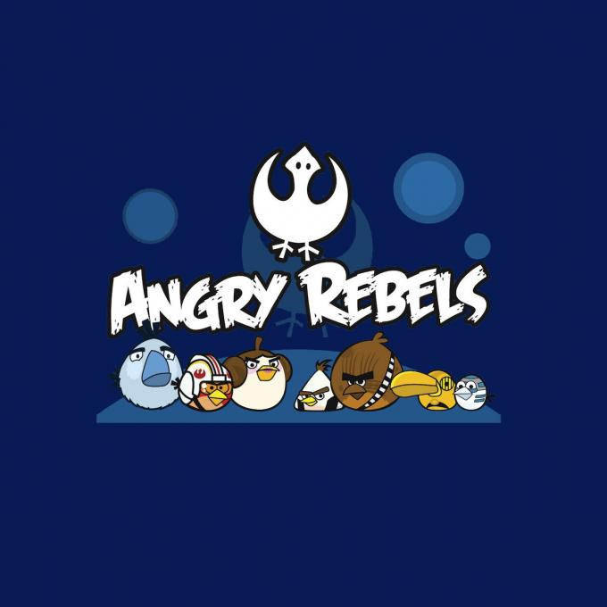 Camiseta Angry Birds como Star Wars. Angry Rebels