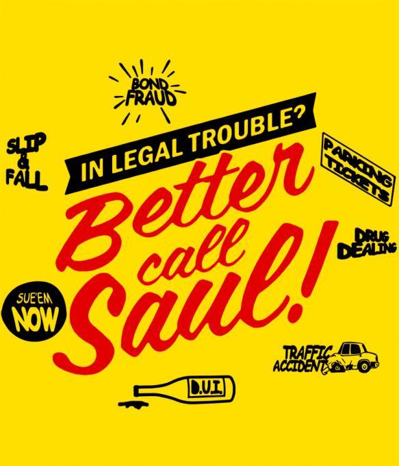 Camiseta Better Call Saul. Breaking Bad. Modelo 2