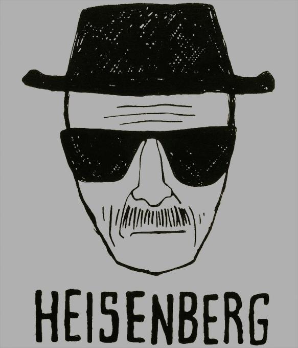 Camiseta Breaking Bad. Caricatura
