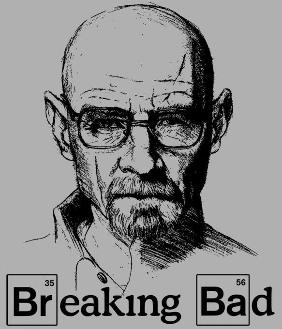 Camiseta Breaking Bad. Dibujo