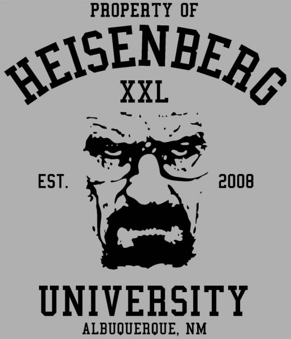 Camiseta Breaking Bad. University
