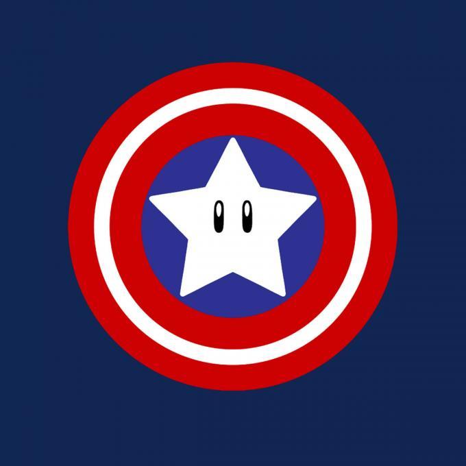 Camiseta Capitán América Mario Bros