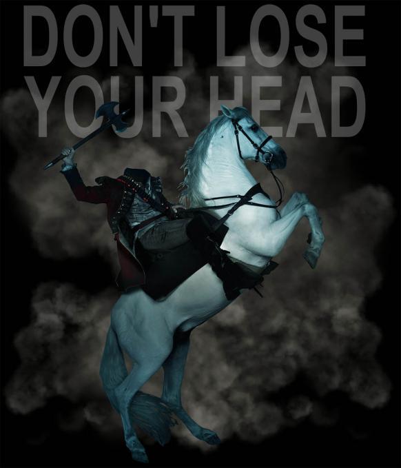 Camiseta Don't Lose Your Head. Sleepy Hollow