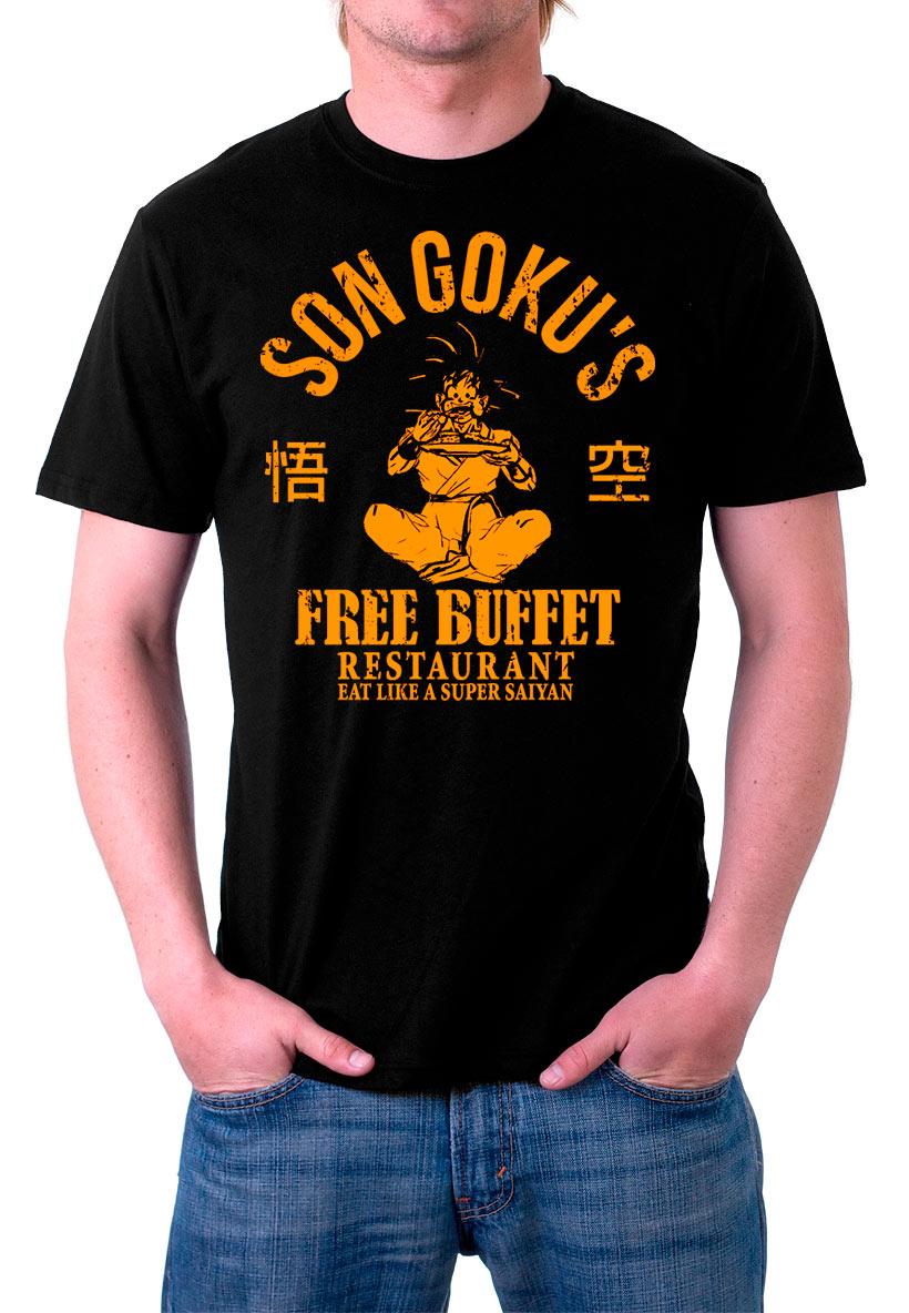 Camiseta Dragon Ball Z Son Goku's Free Buffet Restaurant