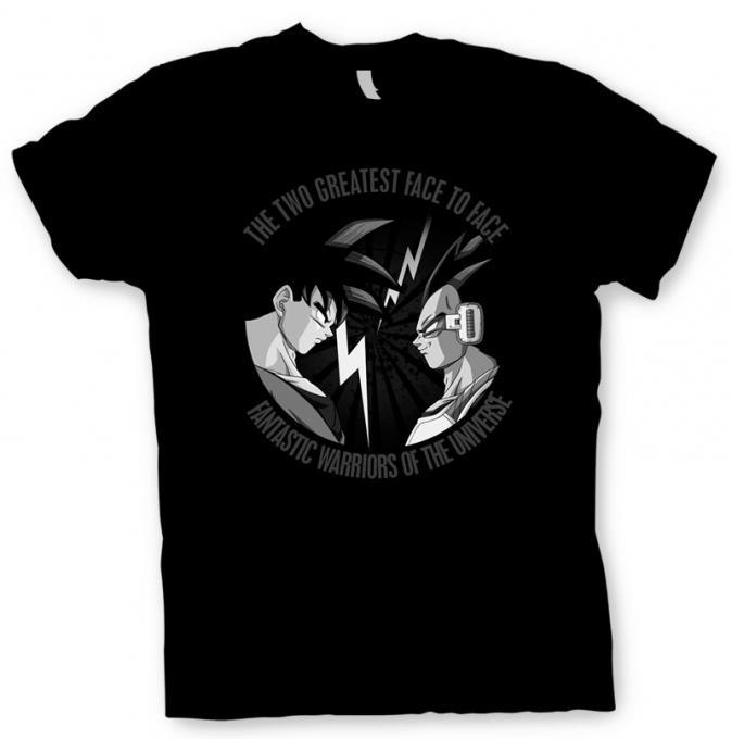 Camiseta Dragon Ball Z cara a cara