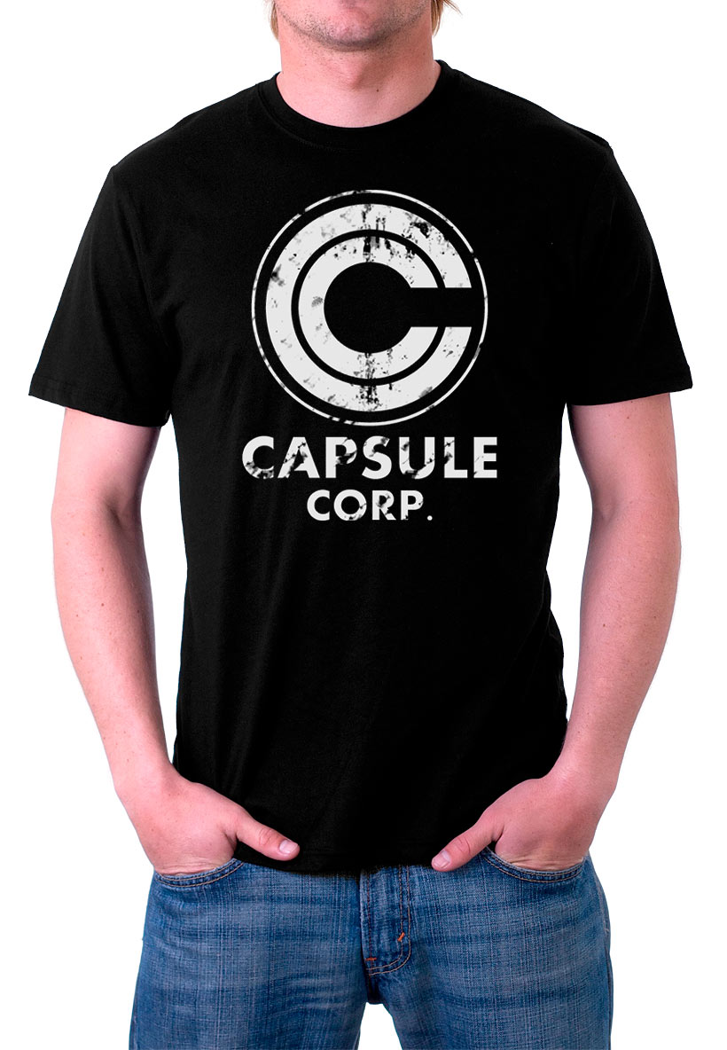 Camiseta Dragon Ball Z. Capsule Corporation. Modelo 2