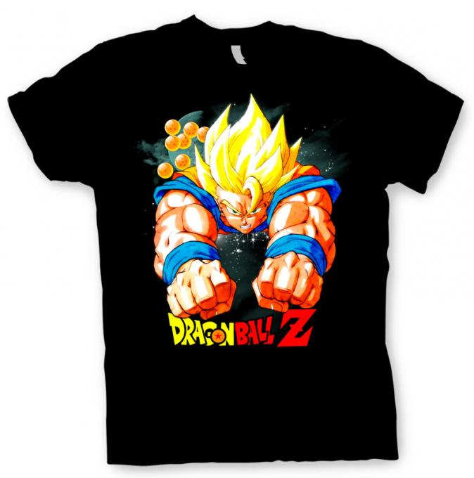 Camiseta Goku volando. Dragon Ball Z