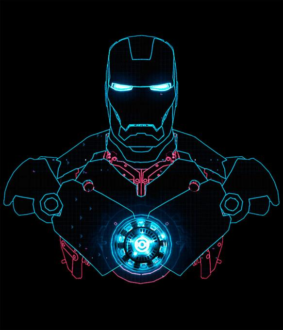 Camiseta Iron Man. Silueta Mark