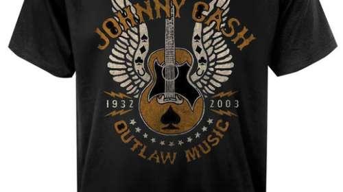 Camiseta Johnny Cash. Outlaw Music