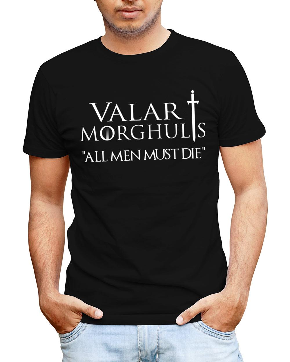 Camiseta Juego de Tronos Valar Morghulis. Modelo 1