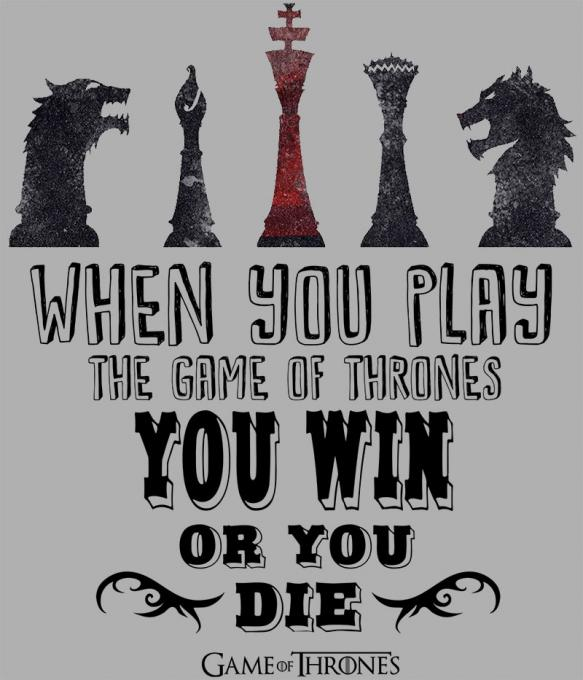 Camiseta Juego de Tronos. When You Play