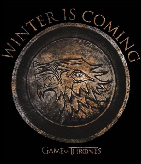 Camiseta Juego de Tronos. Winter is Coming. Casa Stark