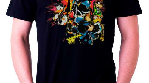 Camiseta Kingdom Hearts luces