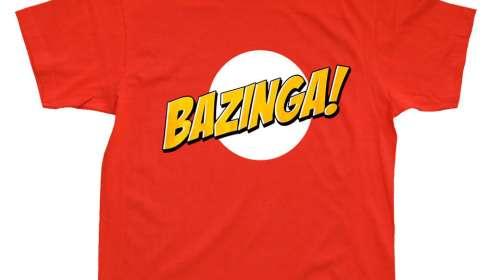 Camiseta Logo Bazinga roja. The Big Bang Theory