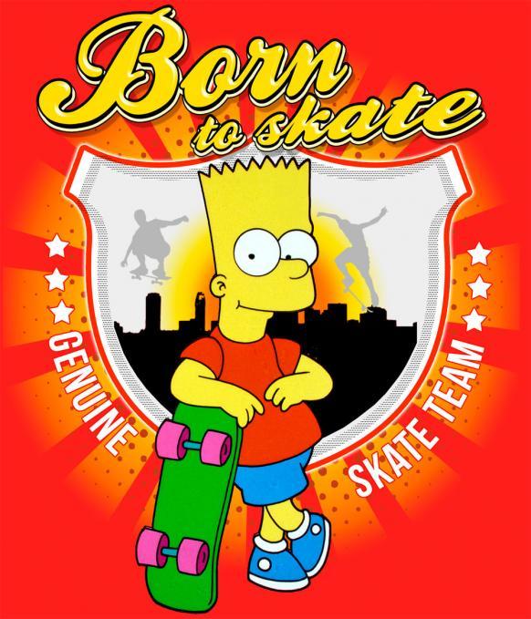 Camiseta Los Simpson. Born to Skate
