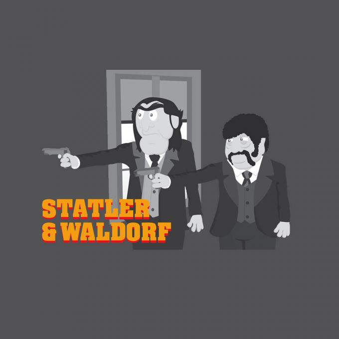 Camiseta Los Teleñecos (The Muppets). Statler and Waldorf como Pulp Fiction
