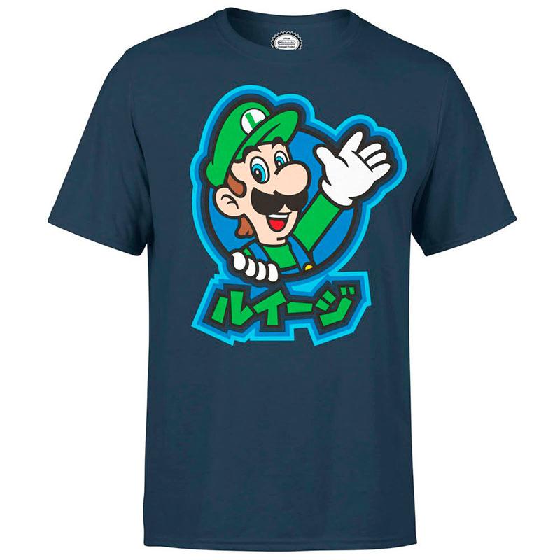 Camiseta Luigi Kanji Nintendo