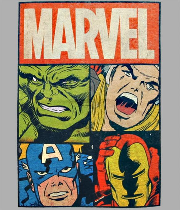 Camiseta Marvel. Superhéroes
