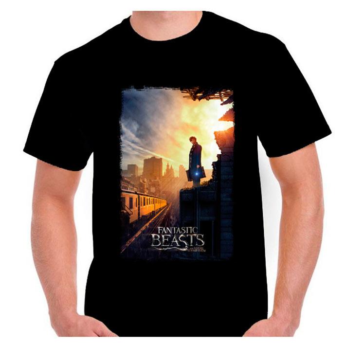 Camiseta Newt Scamander. Portada. Animales fantásticos y donde encontrarlos