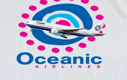 Camiseta Perdidos (Lost). Oceanic Airlines