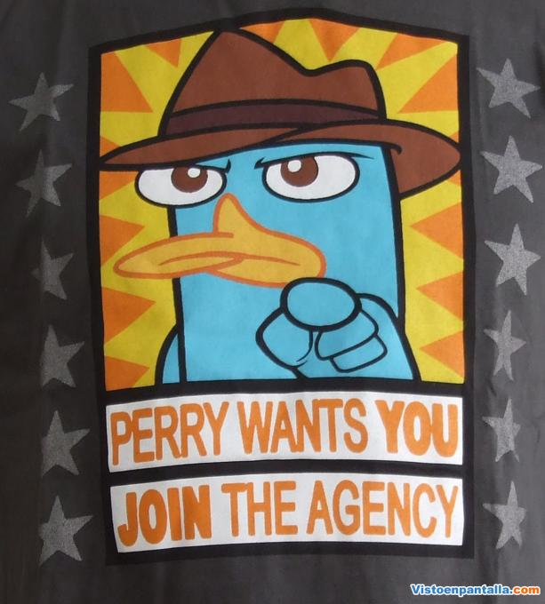 Camiseta Phineas y Ferb. Perry