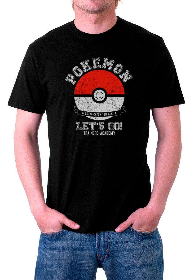 Camiseta Pokémon Go Poké Ball Let's Go!