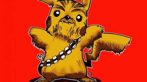 Camiseta Pokemon Star Wars. Pikachewie