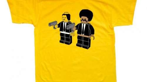 Camiseta Pulp Fiction Lego. Jules y Vincent